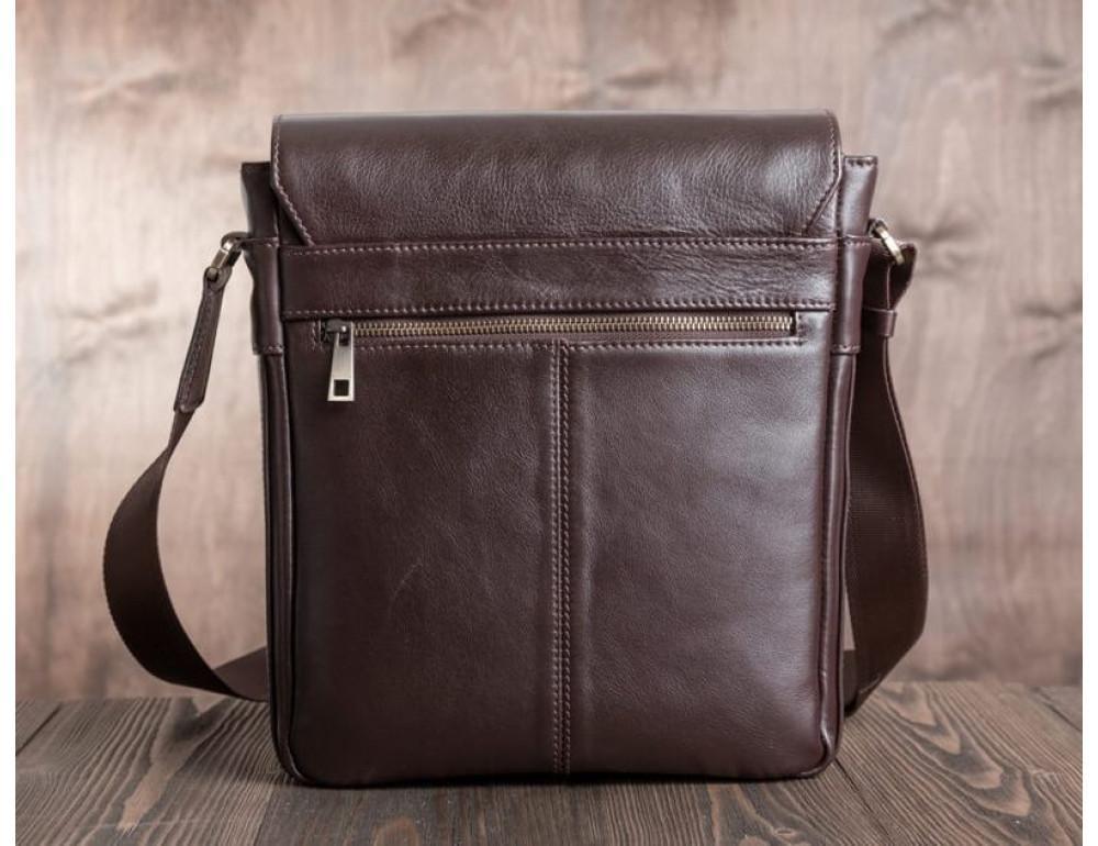 Чоловіча шкіряна сумка-месенджер Blamont Bn091C коричнева - Фотографія № 7