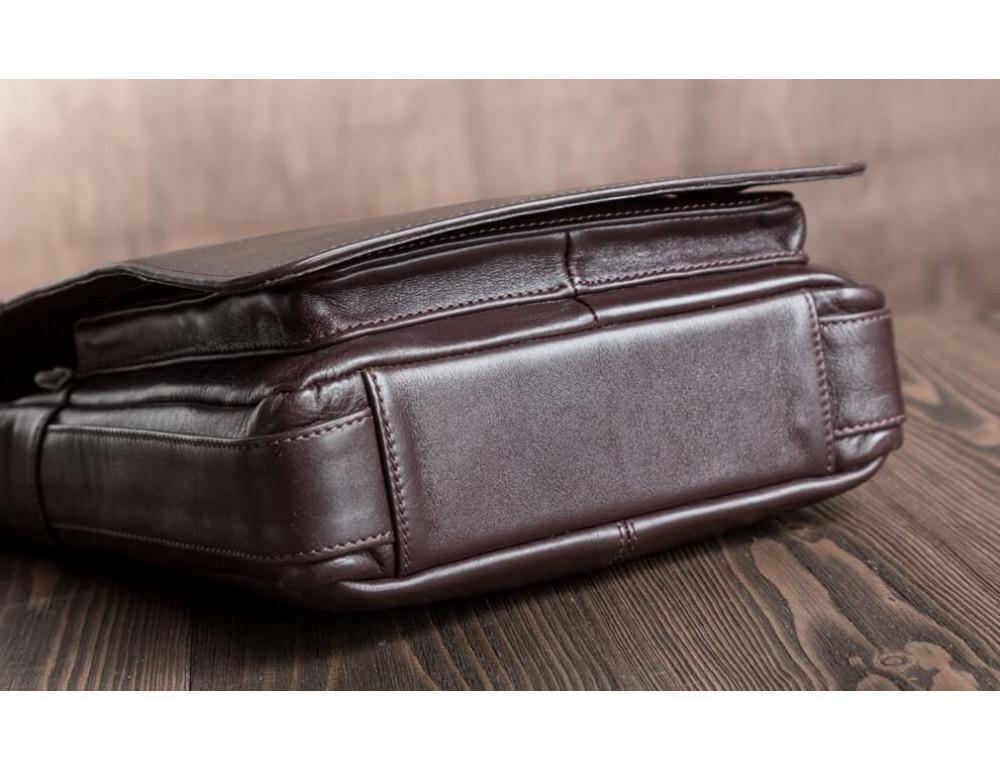 Чоловіча шкіряна сумка-месенджер Blamont Bn091C коричнева - Фотографія № 6