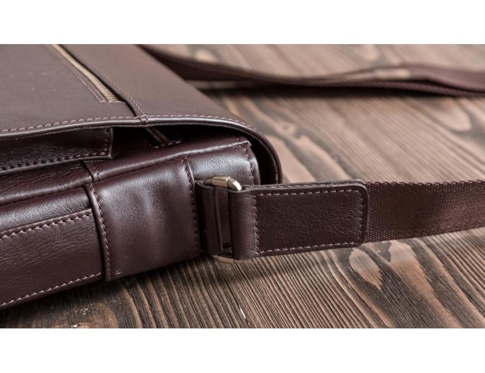 Чоловіча шкіряна сумка-месенджер Blamont Bn091C коричнева - Фотографія № 5