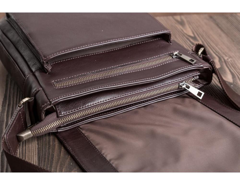 Чоловіча шкіряна сумка-месенджер Blamont Bn091C коричнева - Фотографія № 4