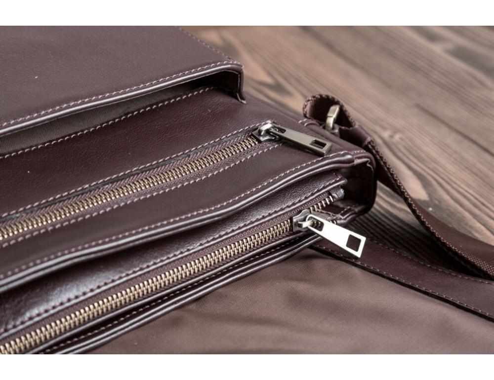 Чоловіча шкіряна сумка-месенджер Blamont Bn091C коричнева - Фотографія № 3