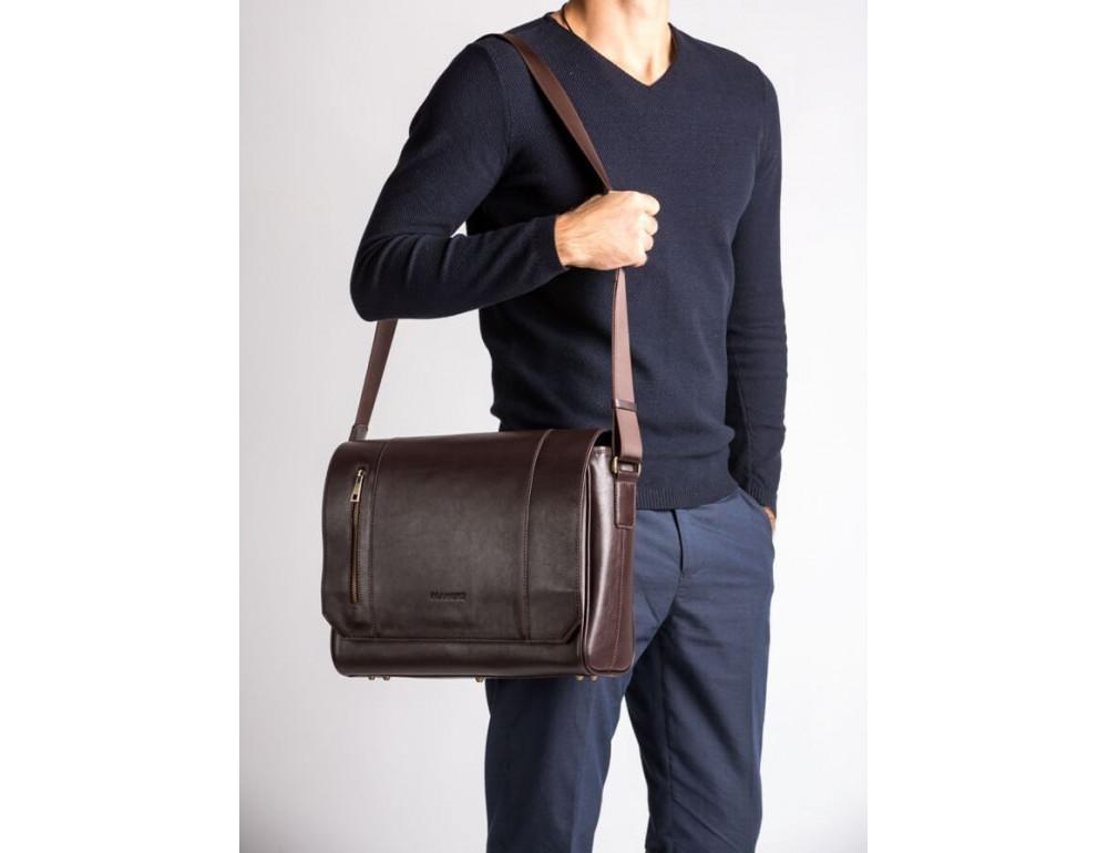 Мужская кожаная сумка-мессенджер BN092C - Фото № 2