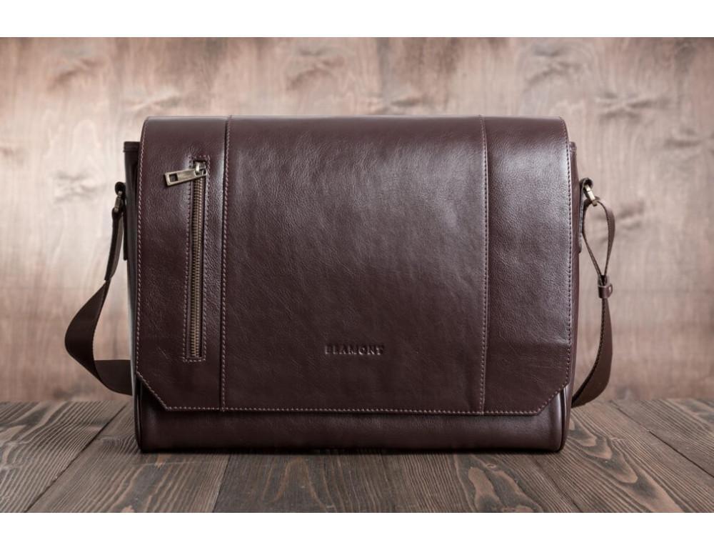 Мужская кожаная сумка-мессенджер BN092C - Фото № 3