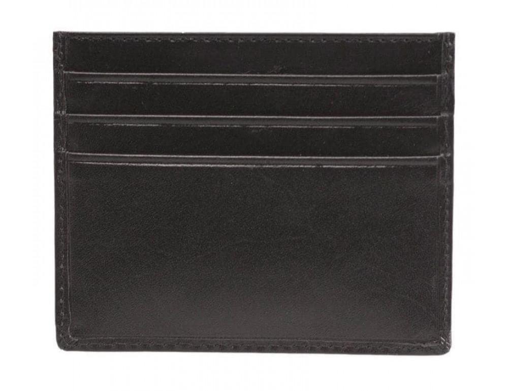 Кожаный кошелек-картхолдер MZ1 IT BLK чёрный - Фото № 2