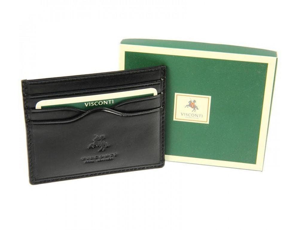 Кожаный кошелек-картхолдер MZ1 IT BLK чёрный - Фото № 3