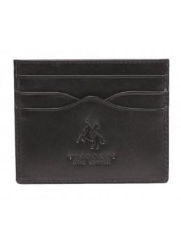 Кожаный кошелек-картхолдер MZ1 IT BLK чёрный