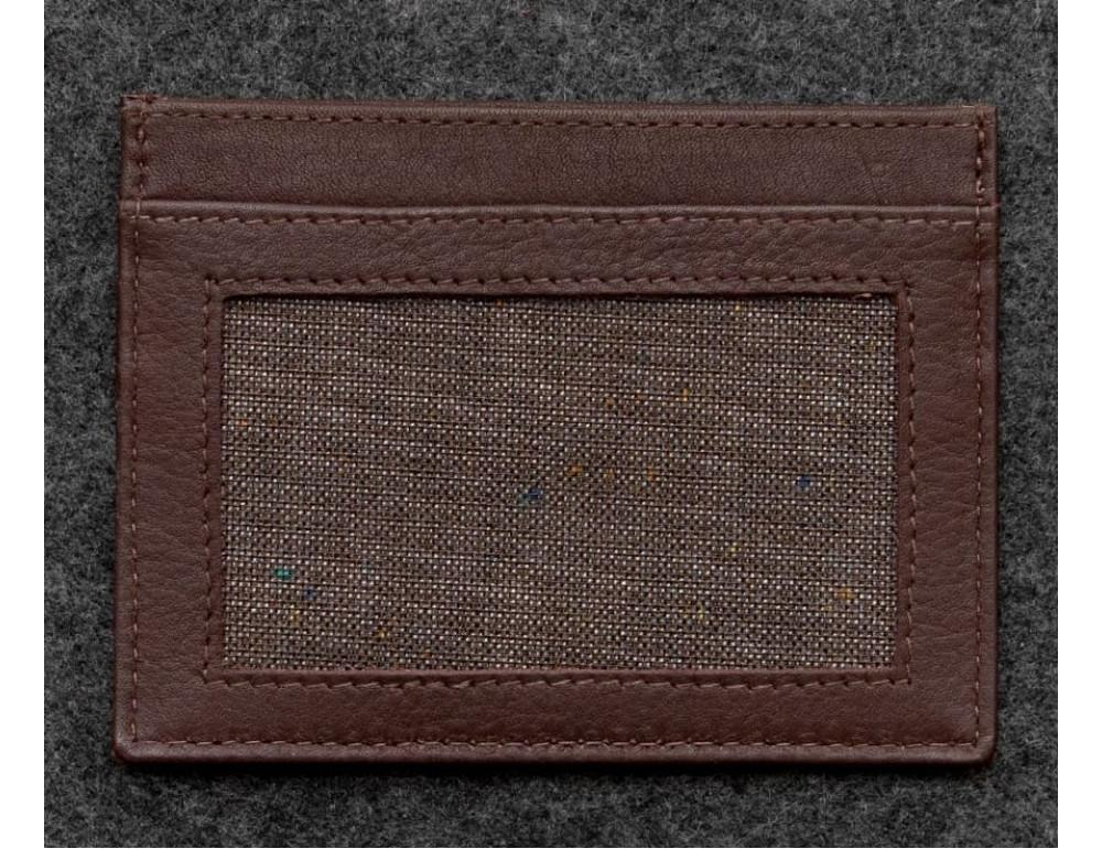 Кожаный кошелек-картхолдер 5028C коричневый - Фото № 3