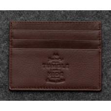 Кожаный кошелек-картхолдер 5028C коричневый
