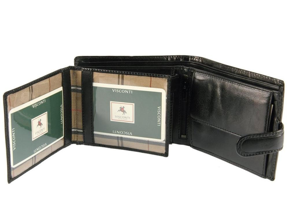 Чёрный мужской кожаный кошелек Monza Visconti MZ5 IT BLK  - Фото № 3