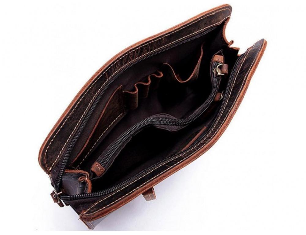 Вместительный кожаный Клатч BEXHILL Bx2753R - коричневый - Фото № 9