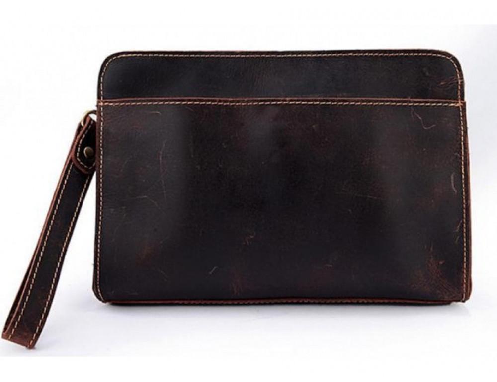 Вместительный кожаный Клатч BEXHILL Bx2753R - коричневый - Фото № 8