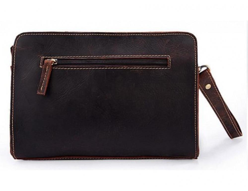 Вместительный кожаный Клатч BEXHILL Bx2753R - коричневый - Фото № 7