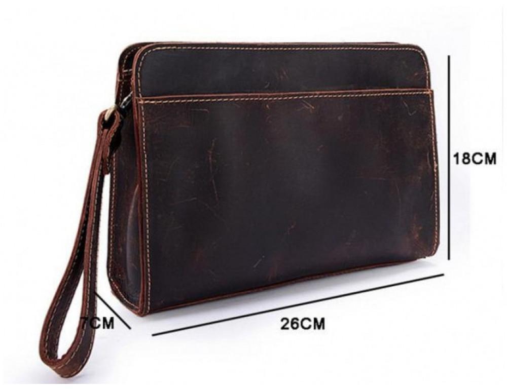 Вместительный кожаный Клатч BEXHILL Bx2753R - коричневый - Фото № 6
