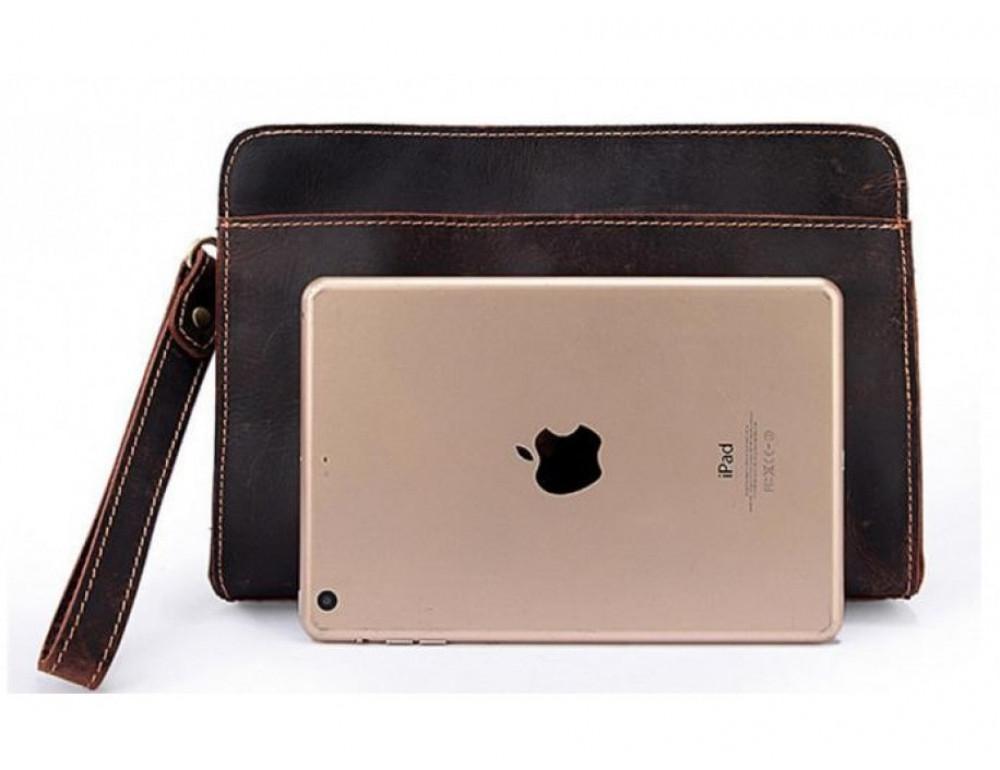 Вместительный кожаный Клатч BEXHILL Bx2753R - коричневый - Фото № 5