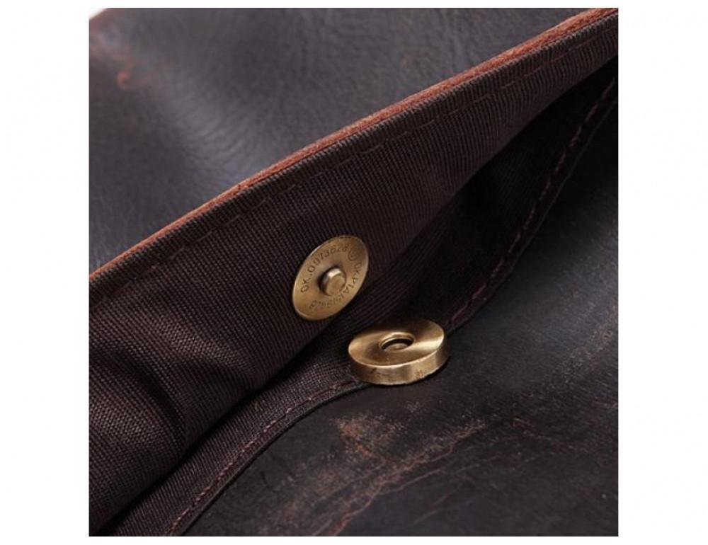 Вместительный кожаный Клатч BEXHILL Bx2753R - коричневый - Фото № 3