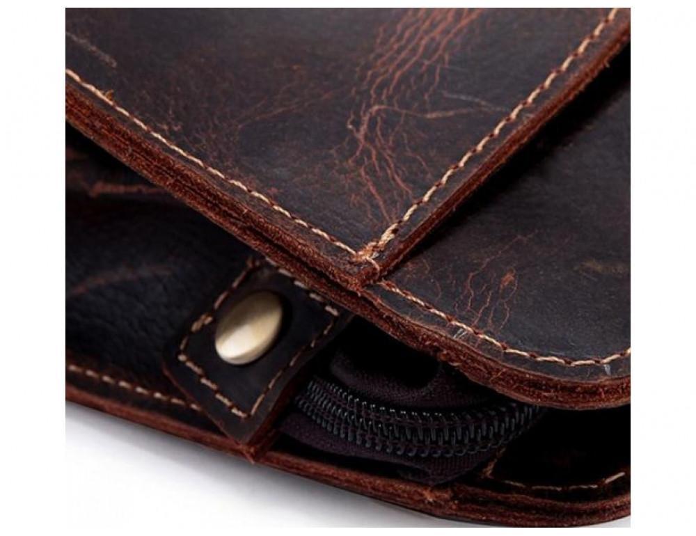 Вместительный кожаный Клатч BEXHILL Bx2753R - коричневый - Фото № 2