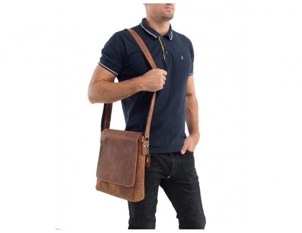Мессенджер Tiding Bag G1157B коричневая - Фото № 2
