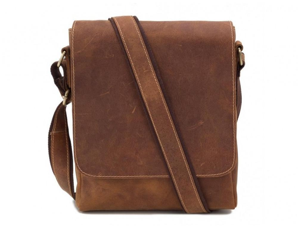 Мессенджер Tiding Bag G1157B коричневая - Фото № 5