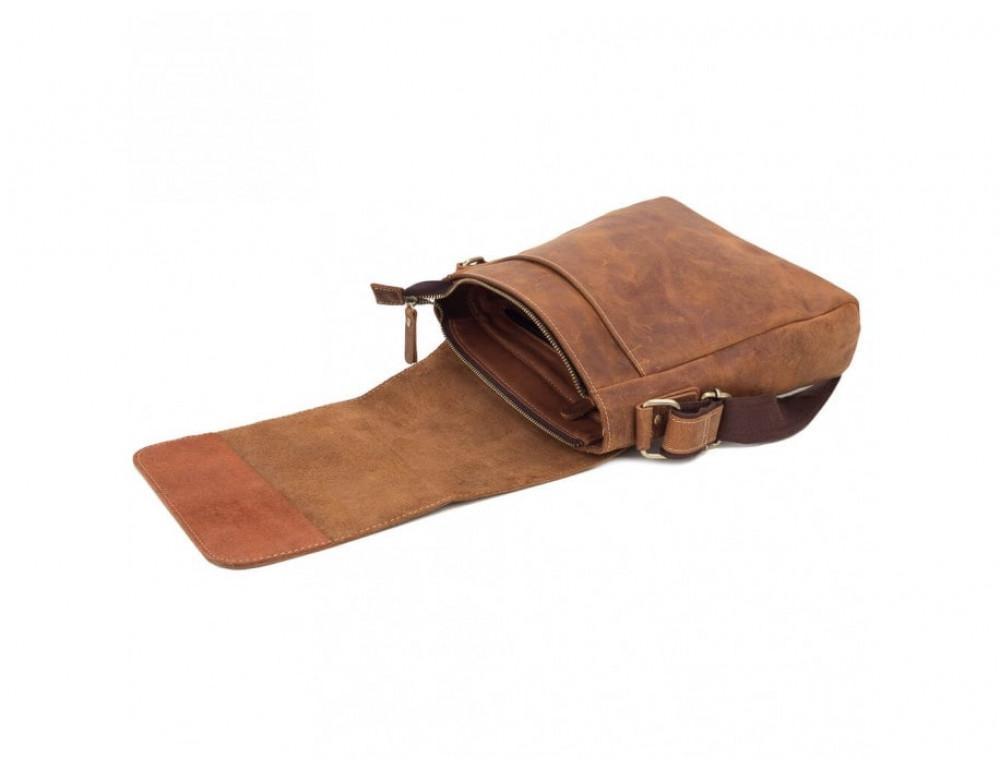 Мессенджер Tiding Bag G1157B коричневая - Фото № 4