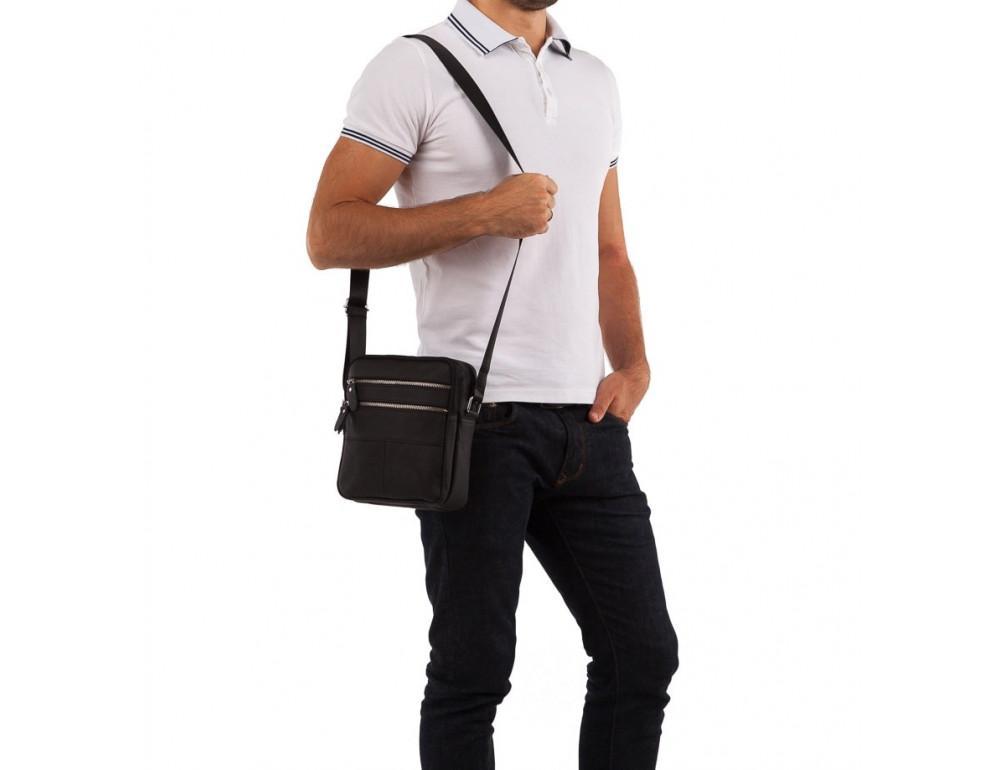 Мужская кожаная сумка-мессенджер  TIDING BAG M38-3923A - Фото № 7