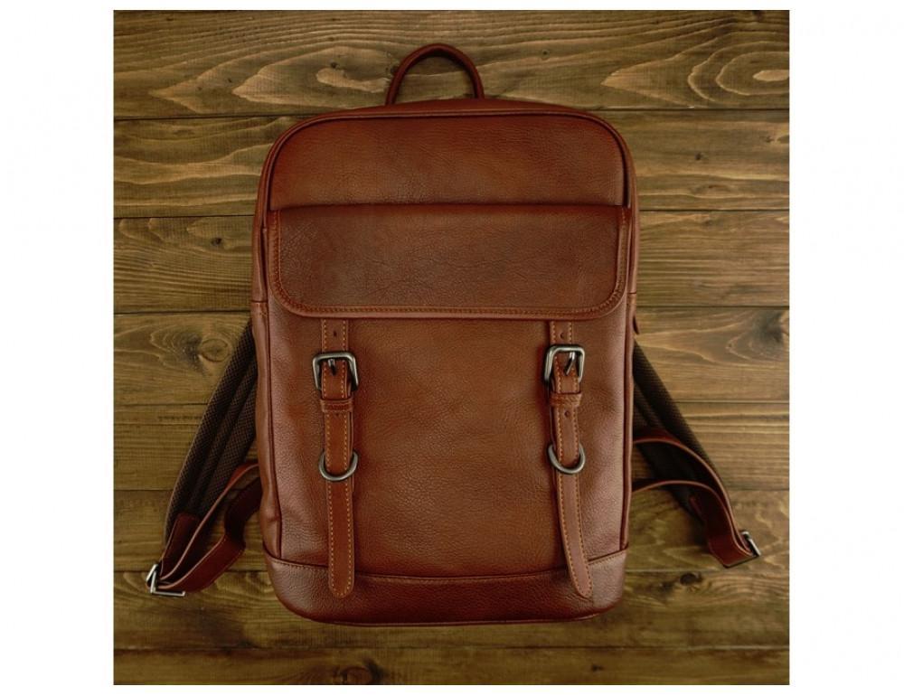 Стильный кожаный рюкзак Tiding Bag M47-62152C коричневый - Фото № 2