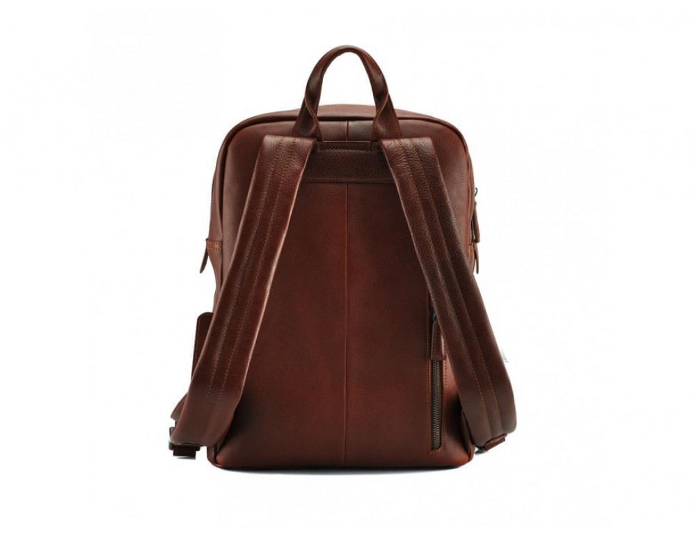Стильный кожаный рюкзак Tiding Bag M47-62152C коричневый - Фото № 4