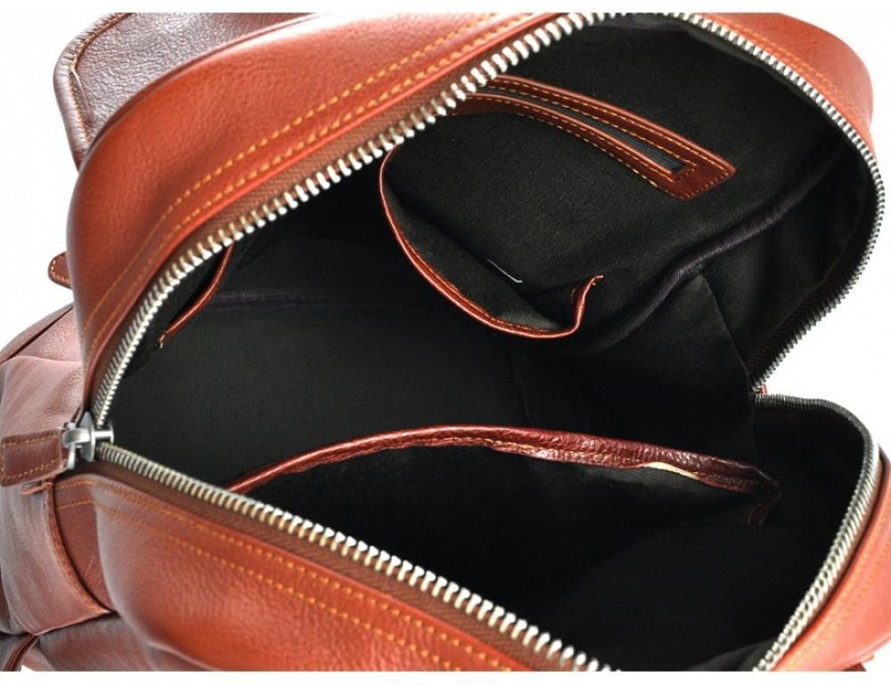 Стильный кожаный рюкзак Tiding Bag M47-62152C коричневый - Фото № 5