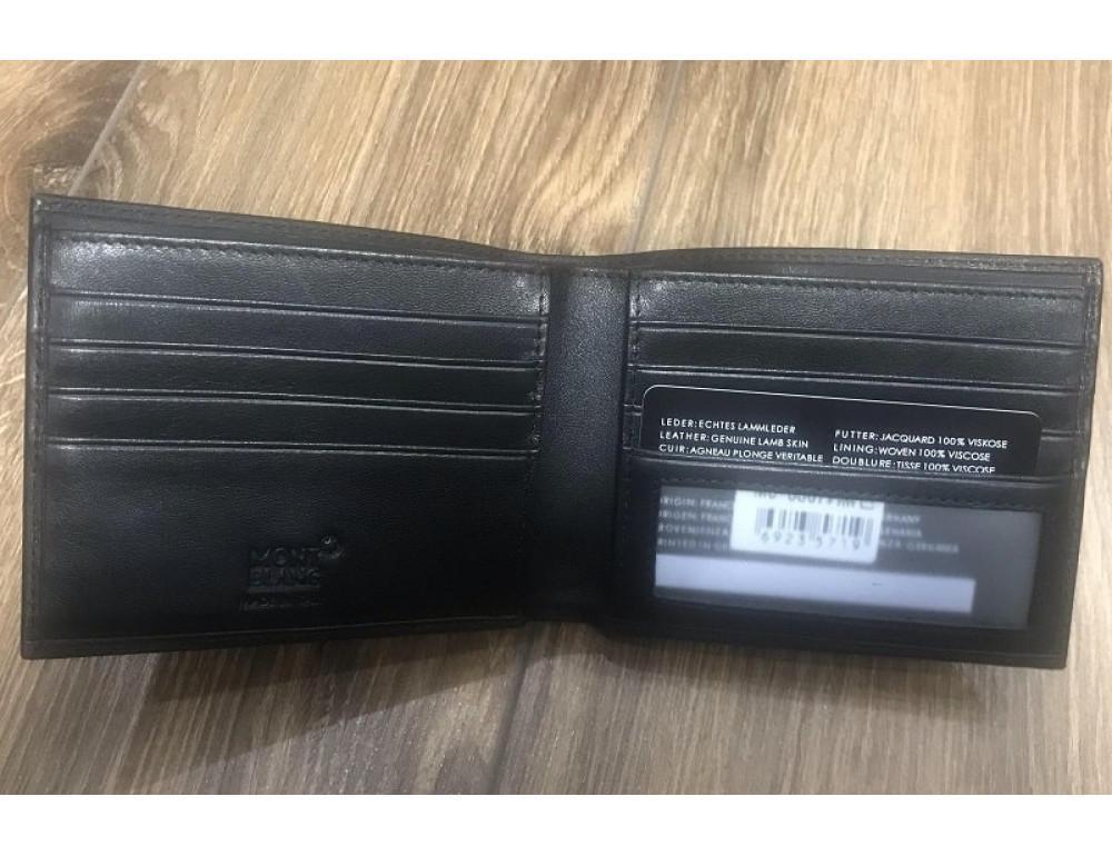 Кожаное портмоне Montblanc MO-6307A чёрный - Фото № 2