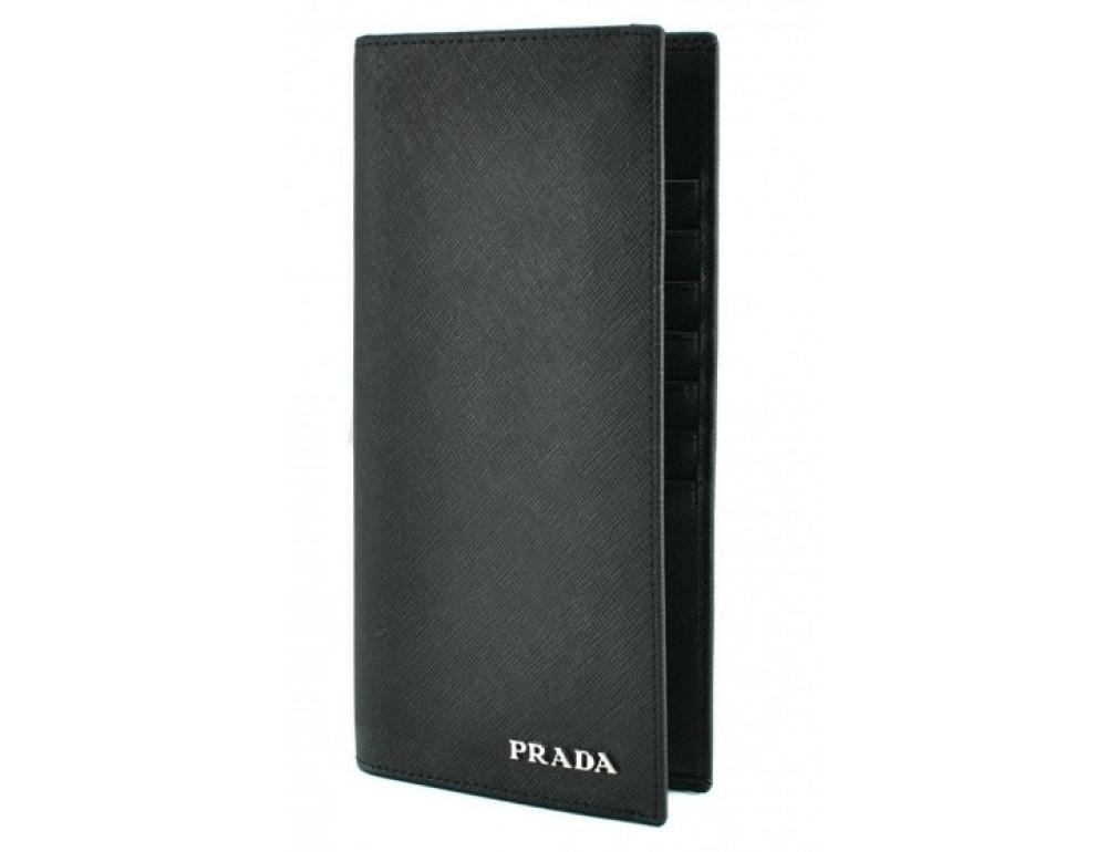 Шкіряне портмоне Prada P-9023-1 чорний