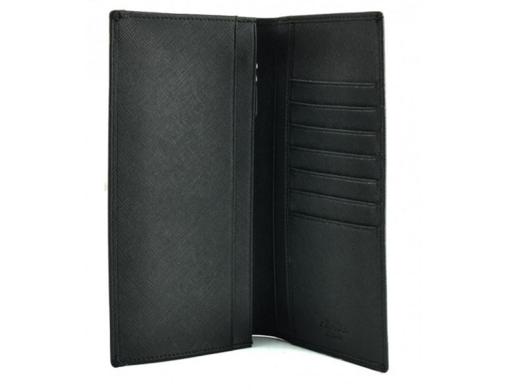 Кожаное портмоне Prada P-9023-1 чёрный - Фото № 2