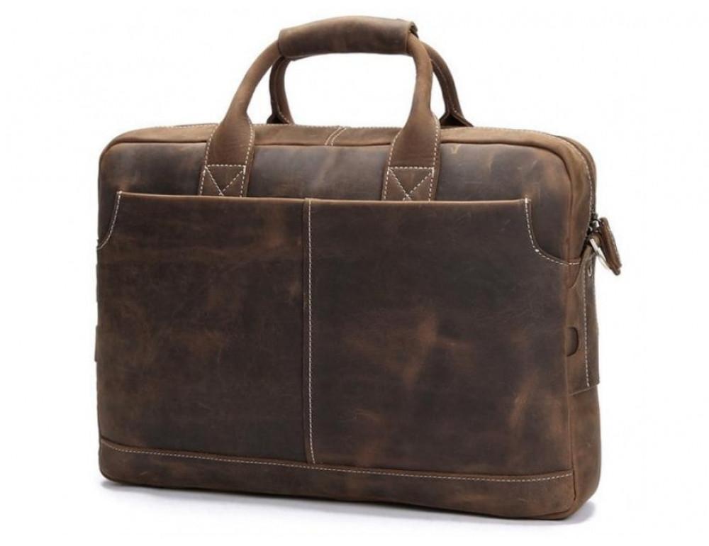 Брутальный портфель из лошадиной кожи TIDING BAG t1019-1 коричневый