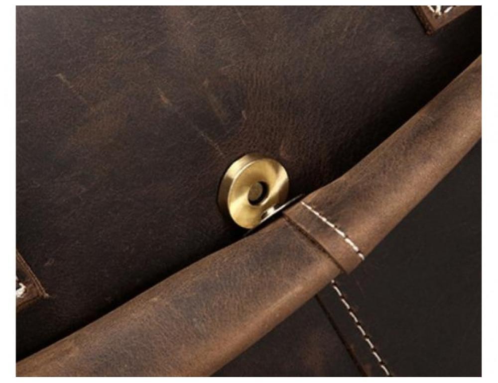 Брутальний портфель з кінської шкіри TIDING BAG t1019-1 коричневий - Фотографія № 9