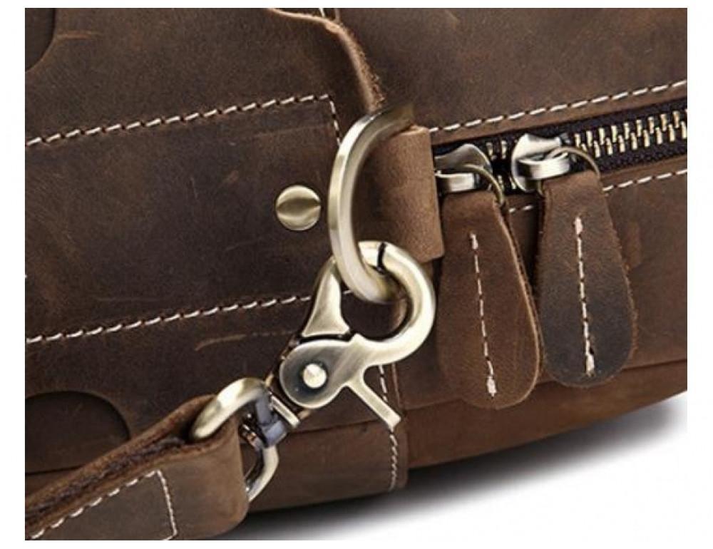 Брутальний портфель з кінської шкіри TIDING BAG t1019-1 коричневий - Фотографія № 10