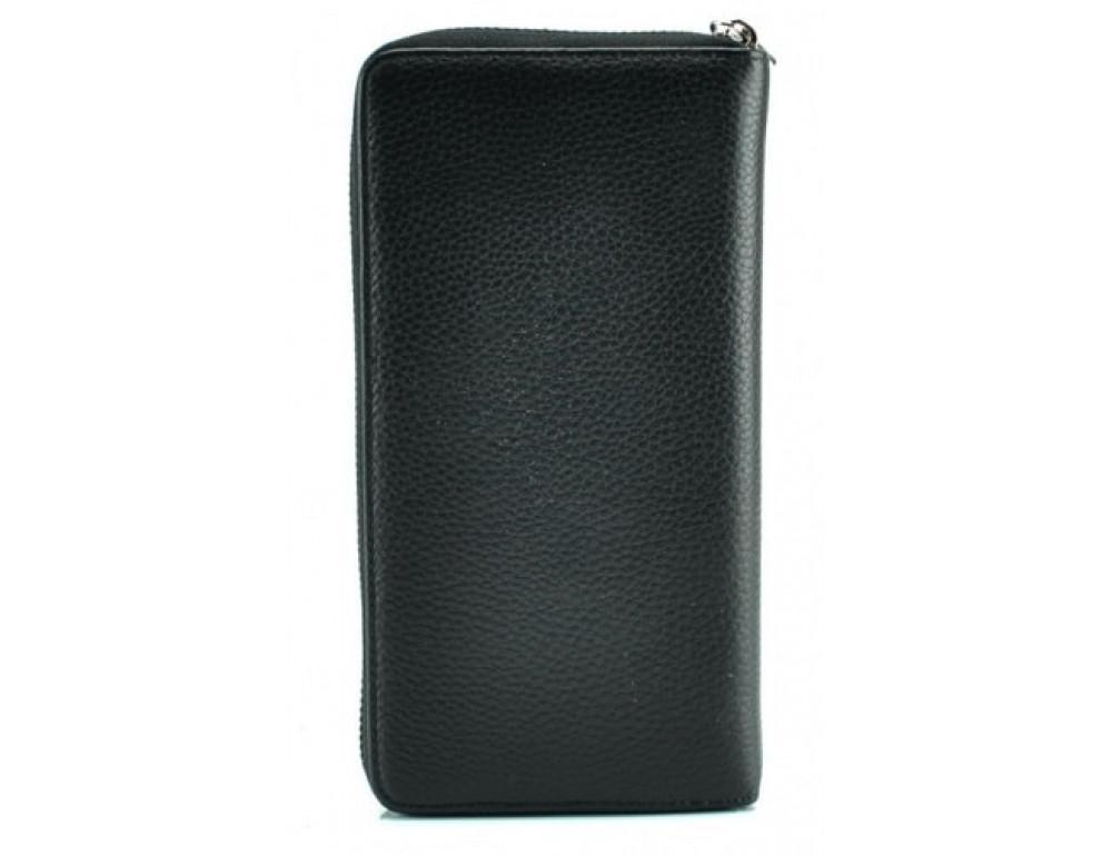 Кожаный клатч Montblanc Wallet11-5552 чёрный - Фото № 3