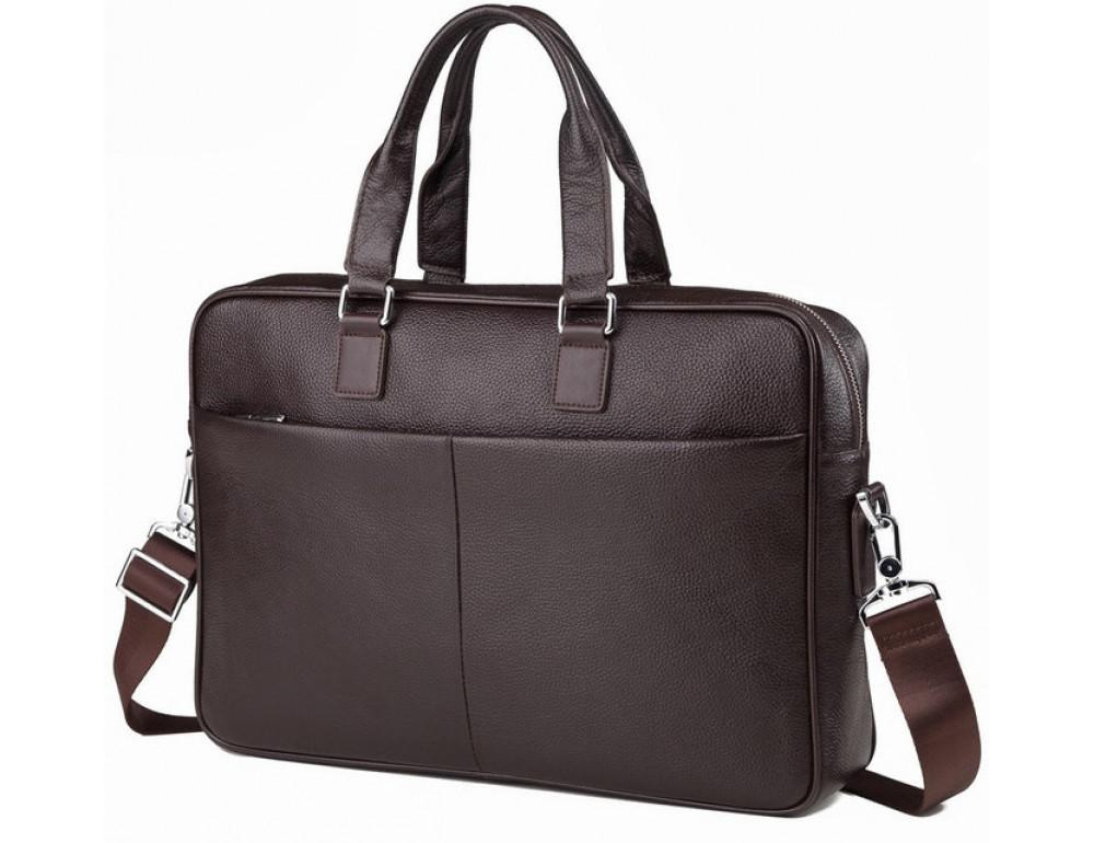 Мужская кожаная сумка TIDING BAG M2164C - Фото № 1