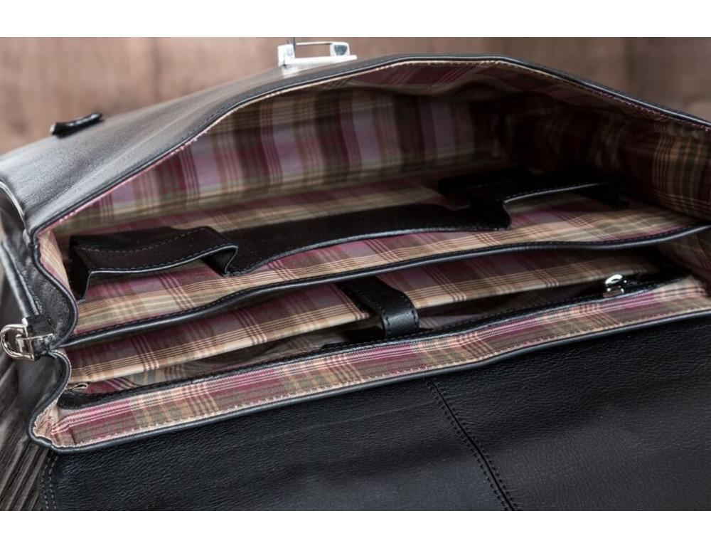 Вместительный кожаный портфель Blamont Bn044A - Фото № 5