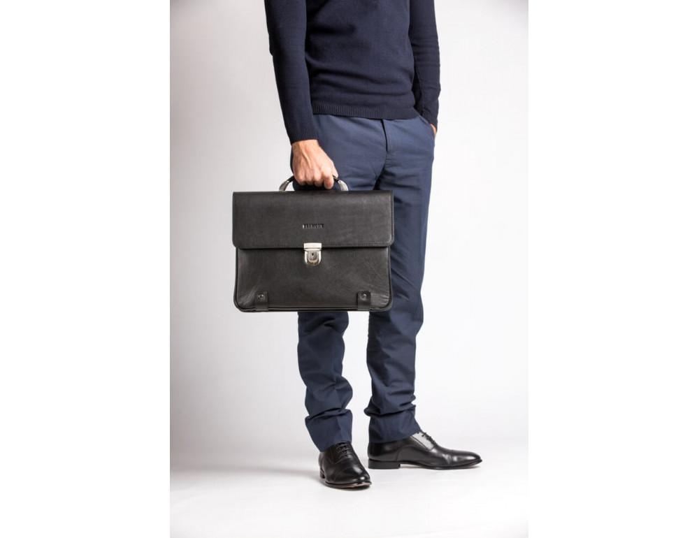 Вместительный кожаный портфель Blamont Bn044A - Фото № 3