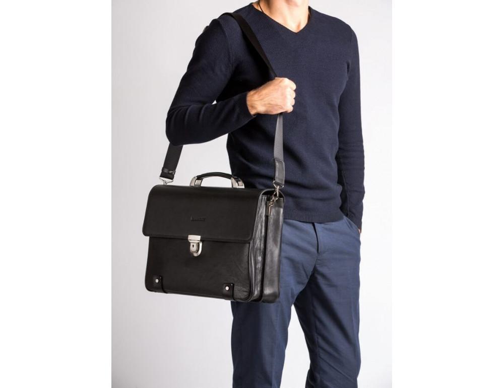 Вместительный кожаный портфель Blamont Bn044A - Фото № 2