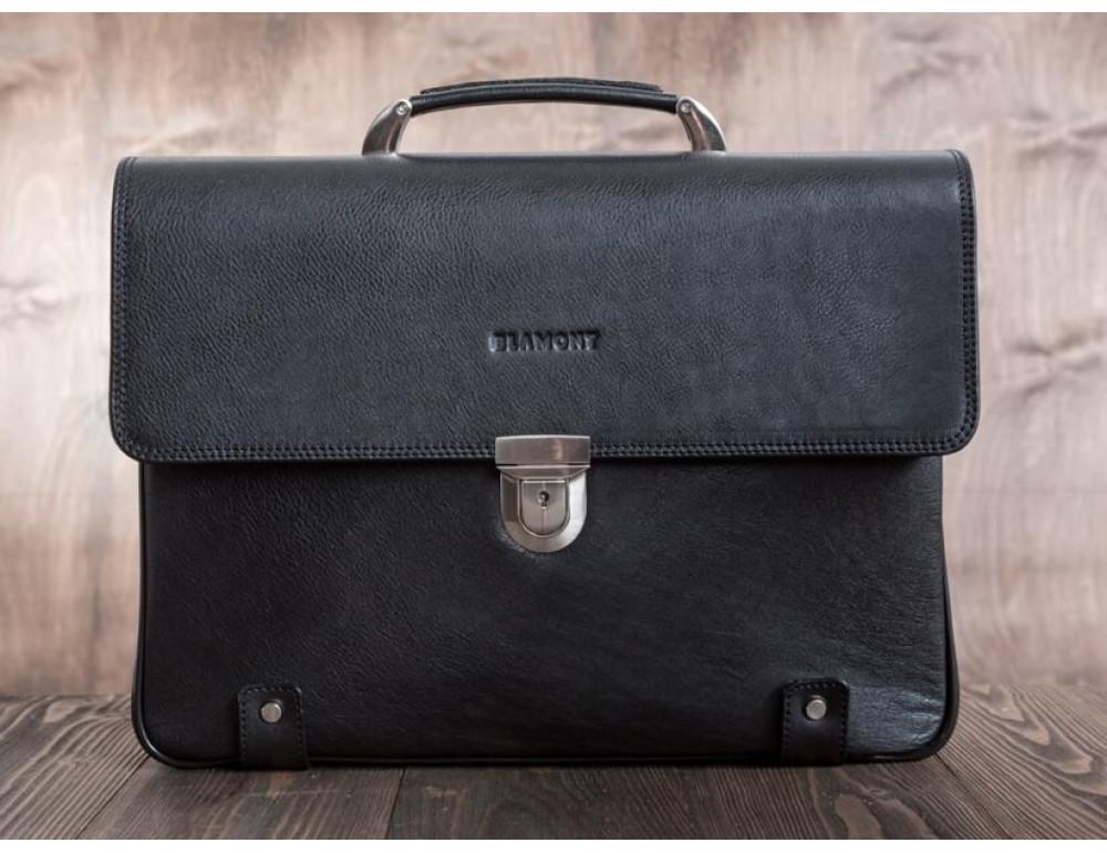 Вместительный кожаный портфель Blamont Bn044A - Фото № 14