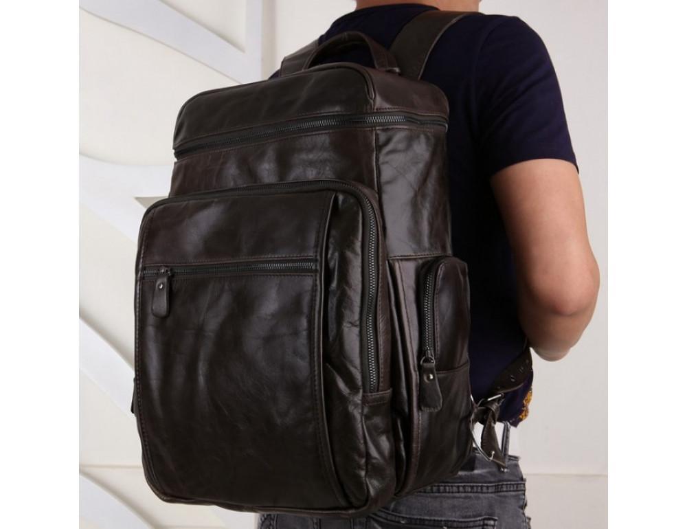 Вместительный городской рюкзак TIDING BAG 7202J серо-коричневый - Фото № 2