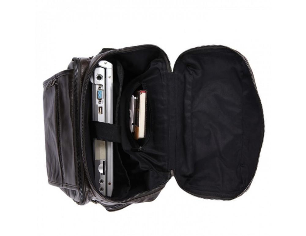 Вместительный городской рюкзак TIDING BAG 7202J серо-коричневый - Фото № 3