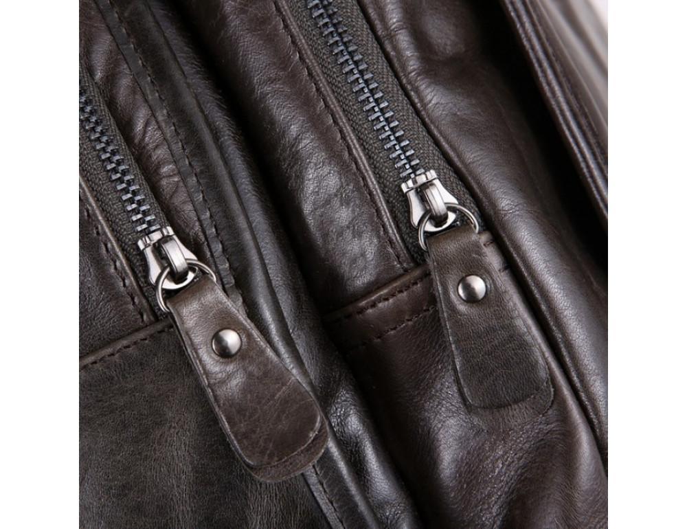 Вместительный городской рюкзак TIDING BAG 7202J серо-коричневый - Фото № 4