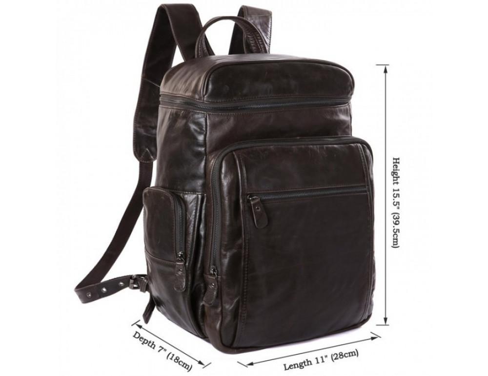Вместительный городской рюкзак TIDING BAG 7202J серо-коричневый - Фото № 5