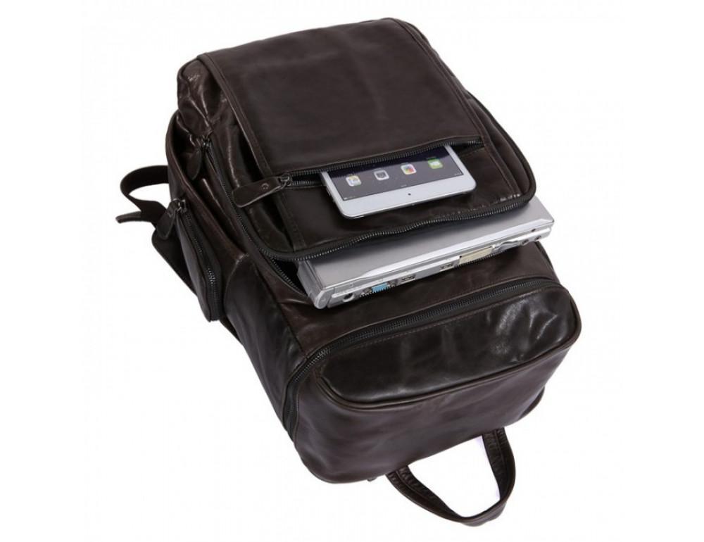 Вместительный городской рюкзак TIDING BAG 7202J серо-коричневый - Фото № 6