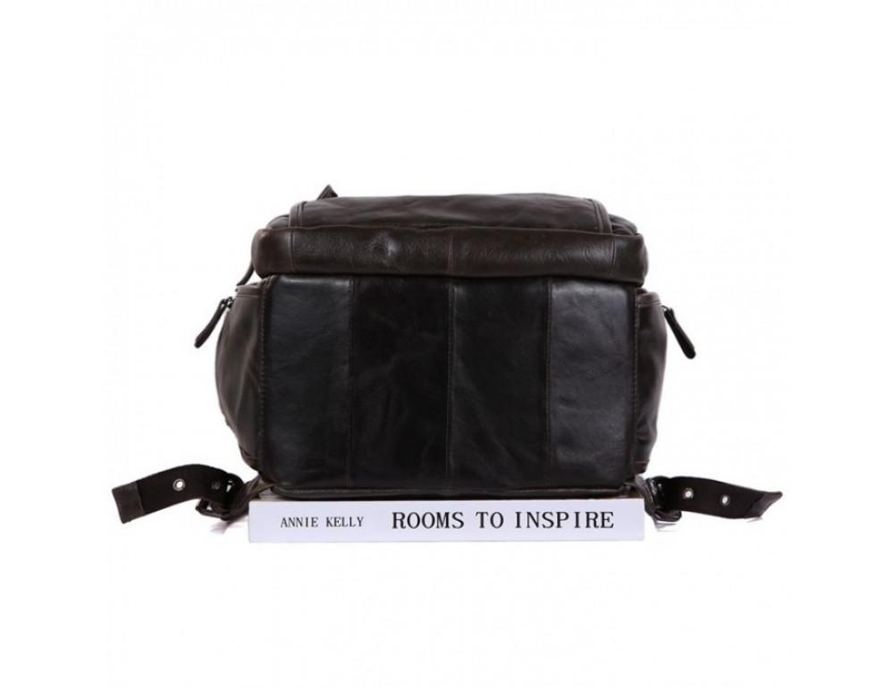 Вместительный городской рюкзак TIDING BAG 7202J серо-коричневый - Фото № 7