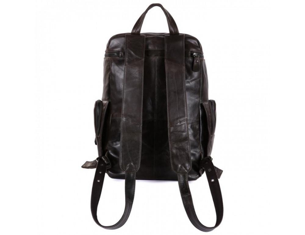 Вместительный городской рюкзак TIDING BAG 7202J серо-коричневый - Фото № 8