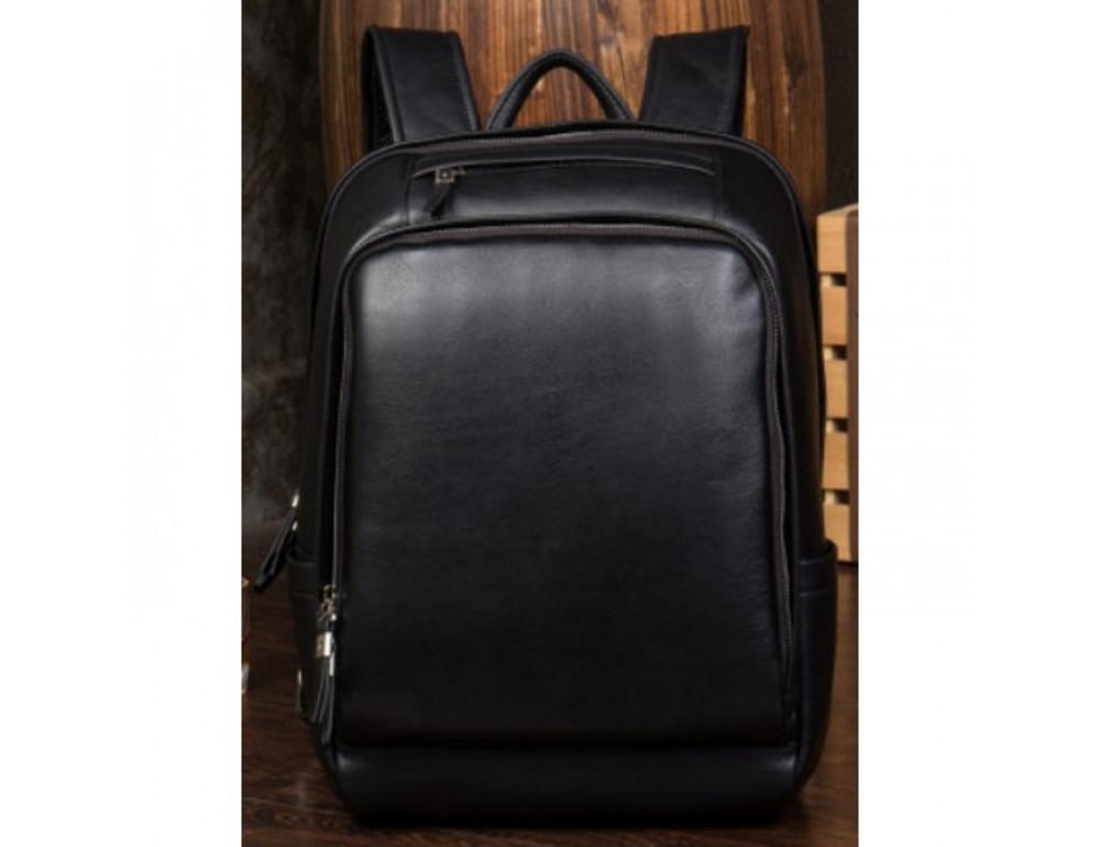 Мужской кожаный рюкзак Tiding Bag B3-058A черный - Фото № 2