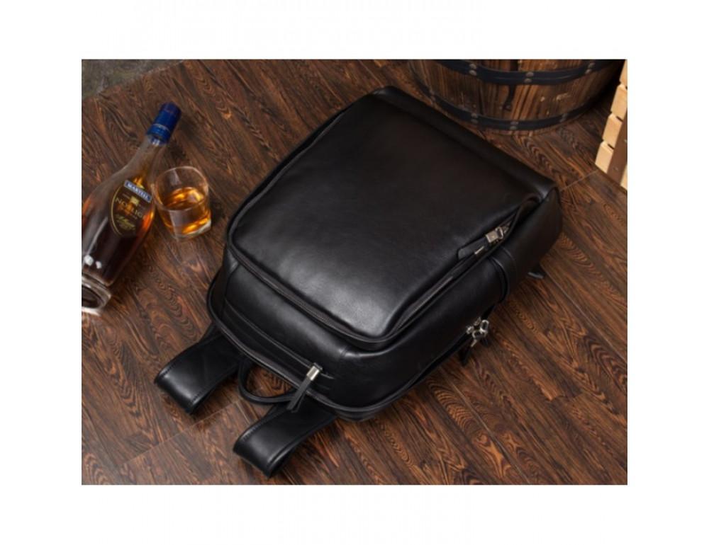 Мужской кожаный рюкзак Tiding Bag B3-058A черный - Фото № 5