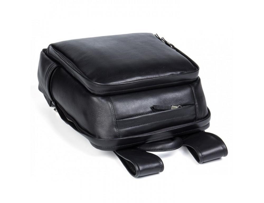 Мужской кожаный рюкзак Tiding Bag B3-058A черный - Фото № 6
