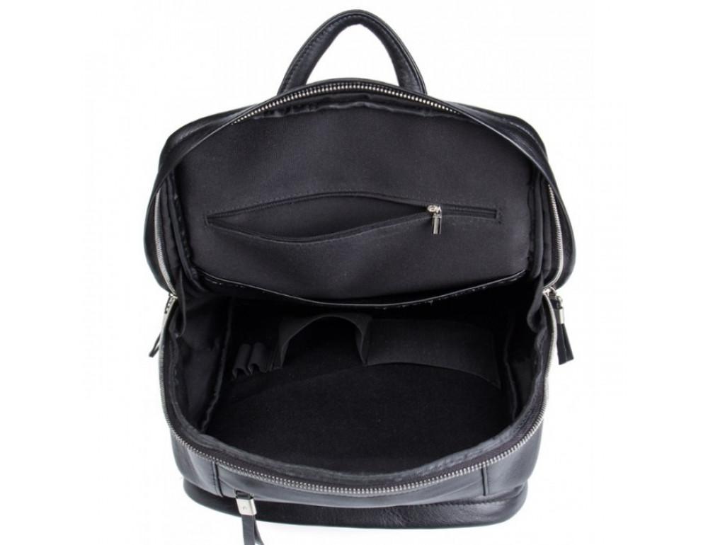 Мужской кожаный рюкзак Tiding Bag B3-058A черный - Фото № 8